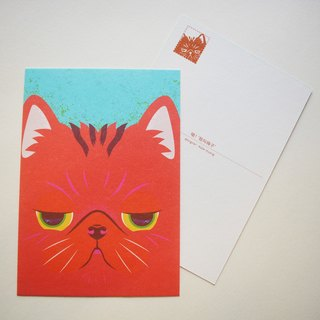 "Postcard printed version: cat - ""! Meow I called plum"""