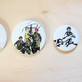 Peking Opera Series Magnetic Ink Character Badge four into