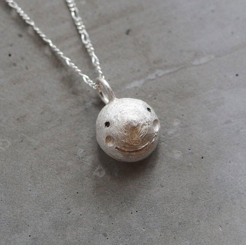 Moon smiled 925 silver necklace