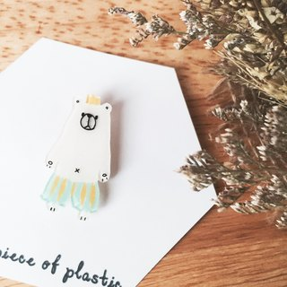 Cute polar bear pin