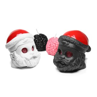 I Got Brain - Santa fragrance candle candlestick modeling group (white End Sale)