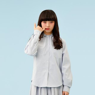 Wide scallop collar doll shirt (with pearl buttons)