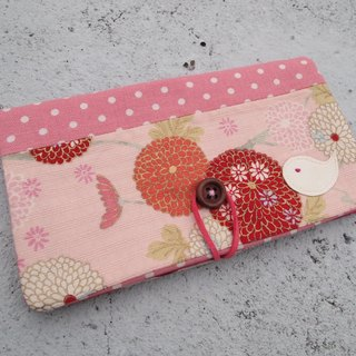 Pastel Japanese pattern book bag / wallet long clip
