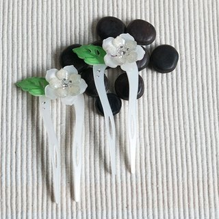 Color of Something New, U-shaped hairpin, hairpin, hair plug - White