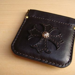 ISSIS - Handmade Leather Lily Cross Patterned Purse