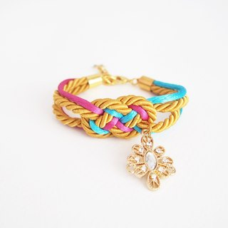 tie the knot - sailor bracelet - infinity knot - nautical jewelry