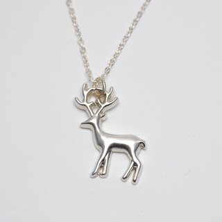 Lovely Zoo - Deer Necklace - Custom Hand Stamped - animal necklace