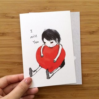 ┇eyesQu┇I MISS YOU┇ illustration postcard