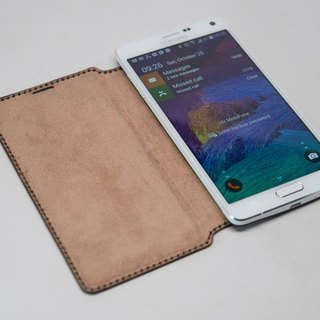 Samsung Note4 side flip leather protector / set