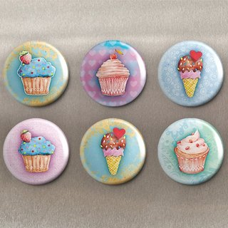 Delicious Dessert - Magnet (6 in) / Badge (6 in) / Birthday Gift [Special U Design]