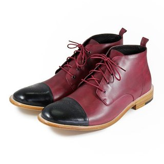City Rider M1101 Black Burgundy Waxing Leather boots