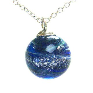 Planet series - Neptune (desire, sensibility) glass beads necklace