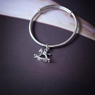MUFFëL 925 Silver Silver Series - the children simply circle bracelet pendant fight Rocking Horse