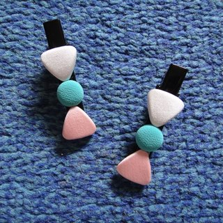 (C) Peach White Blue _ cloth button duckbill long clip TCTALBZ22Z08Z80