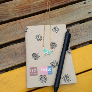 Geometric paper crane mini short chain
