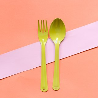 Green Lemon Spoon Fork