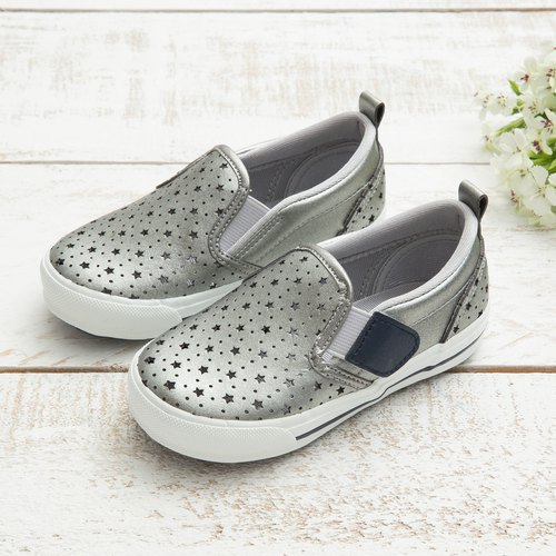 Avery Silver Star Breathable Slip-On Casual Shoes (Kids)