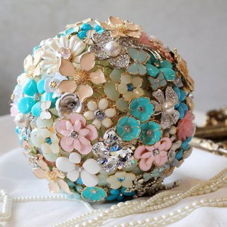 Bouquet jewelry [full] jewelry collection Flowers / Powder Blue