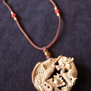 ㊣ India Laoshan sandalwood carvings necklaces --- Dragon