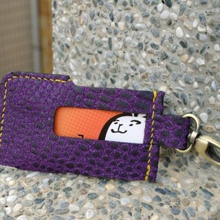 140,903 purple crocodile embossed sleeve button handmade sewing travel card case handmade