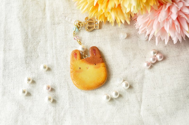 Sweet Dream ☆ fat rabbit small black round biscuit / phone dust plug