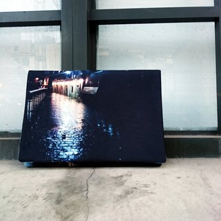 <night corner> - limited edition digital print iPad bag / hang bag
