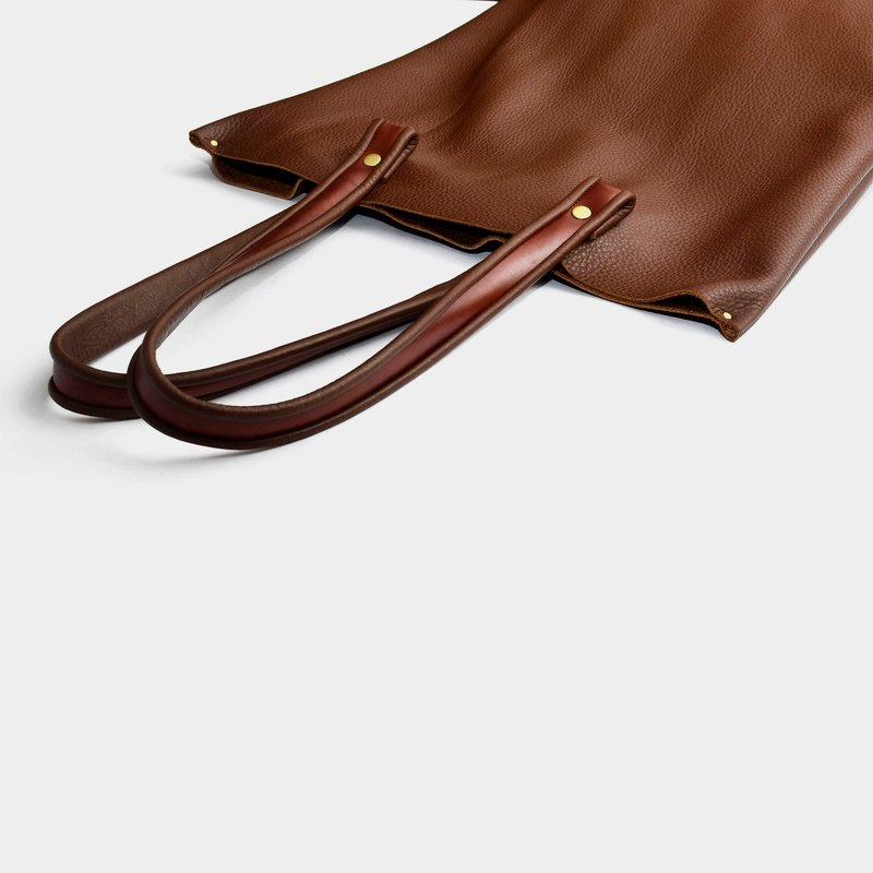 [Hybrid right hand left shoulder] leather tote bag leather shoulder bag totebag brown leather