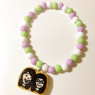 {{}} Valentine define custom couple / friends / frosting cookies candy bracelet ((over 600 were sent mysterious little gift))