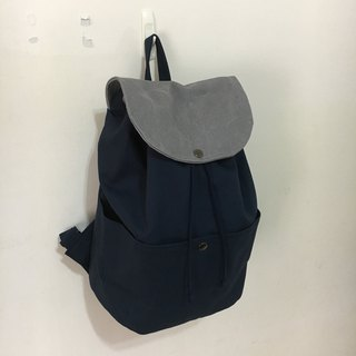 After a small travel backpack, dark blue wash water
