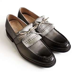 [LMdH] C1B04-49 calfskin leather color flow Soma Cassin sills with handmade loafers ‧ ‧ gray-green Free shipping