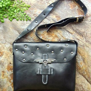 [ANITA] Workshop manual hand-made leather shoulder bag punk demon wings - Specials