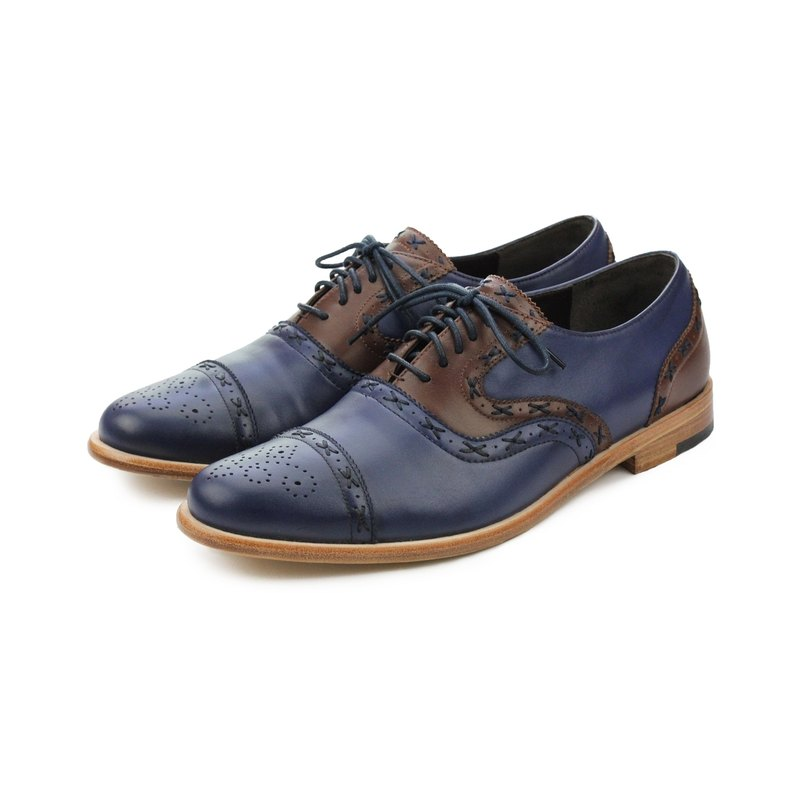Oxford shoes Poppy M1093C Blue Brown