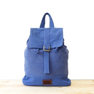 [Happa] a small fresh canvas backpacks - stonewashed canvas classic (Periwinkle tannin blue) jeans backpack bag outing to the autumn wind