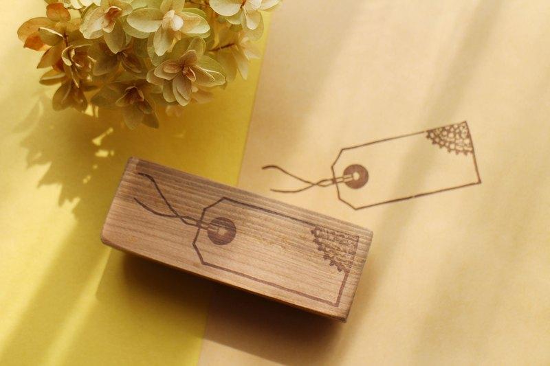 標籤圖樣 木頭印章