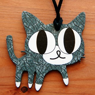 Adorable ♥♥♥ wooden hand as long necklace → cantaloupe White Sox Cats
