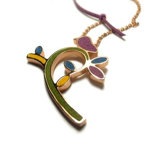 Hand confidence rose gold bird necklace, hand-made purple bird necklace (a)