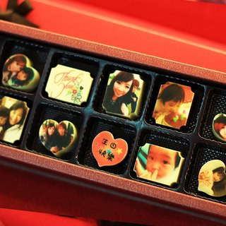 Happy Cocoa - 12 into customized photo chocolate