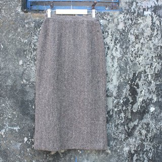 Latte colored skirt thick material