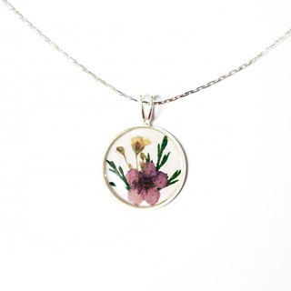 Pressed Flower Necklace (classic pressedflower necklace)