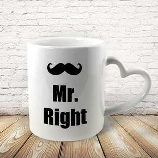 Mr.Right Heart-shaped handle Mug Al27-VLTM1