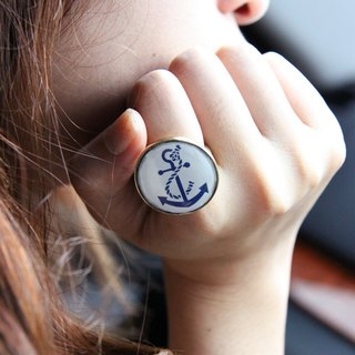 Anchor Ring / Fashion Cute Navy Style Jewelry / Adjustable Ring / Girl Woman Accessories