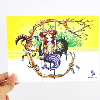 {Zodiac sign} -Capricorn Capricorn / Illustration Postcard