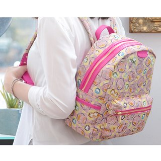 After jacquard woven leather kaleidoscope butterfly backpack Videos