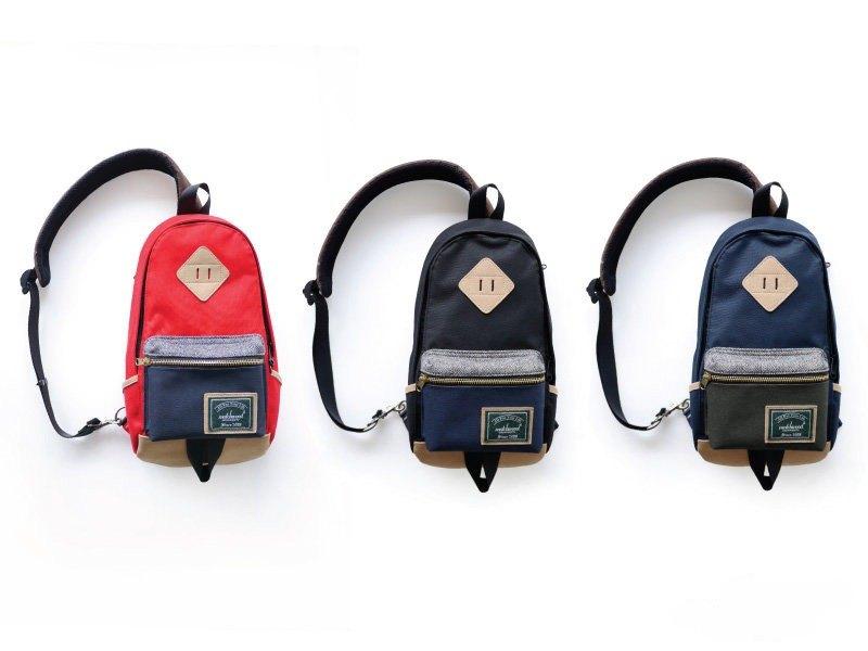 火柴木設計 Matchwood Infantry 豬鼻單肩後背包   紅/黑/藍