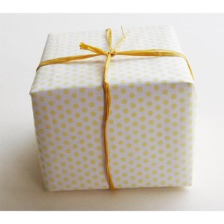 WRAPPING PAPER-YELLOW DOTS