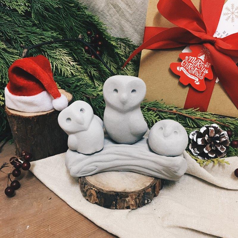 獨家 - 貓頭鷹 和平 守護 幸福 水泥擺飾 水泥擴香石  禮物