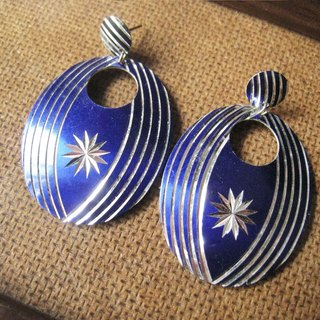 Time Travel【vintage pin earrings:Aegis - Blue】