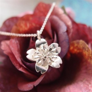 Sakura silver necklace