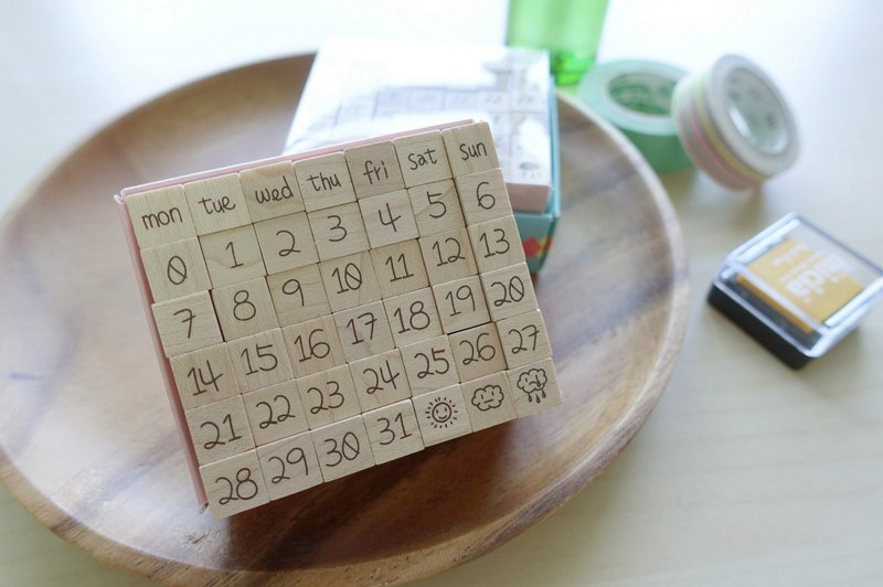 Di Meng Qi - Day By Day calendar stamp group engraved [cute handwriting models]