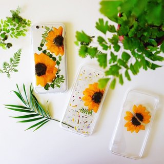 Pressed Flowers Phone Cases - Sun Flower Collection for iphone 5/5s/SE/6/6s/6 plus/6s plus/7/7plus/Samsung S4/S5/S6/S6Edge/S7/S7Edge/Note3/Note4/Note5